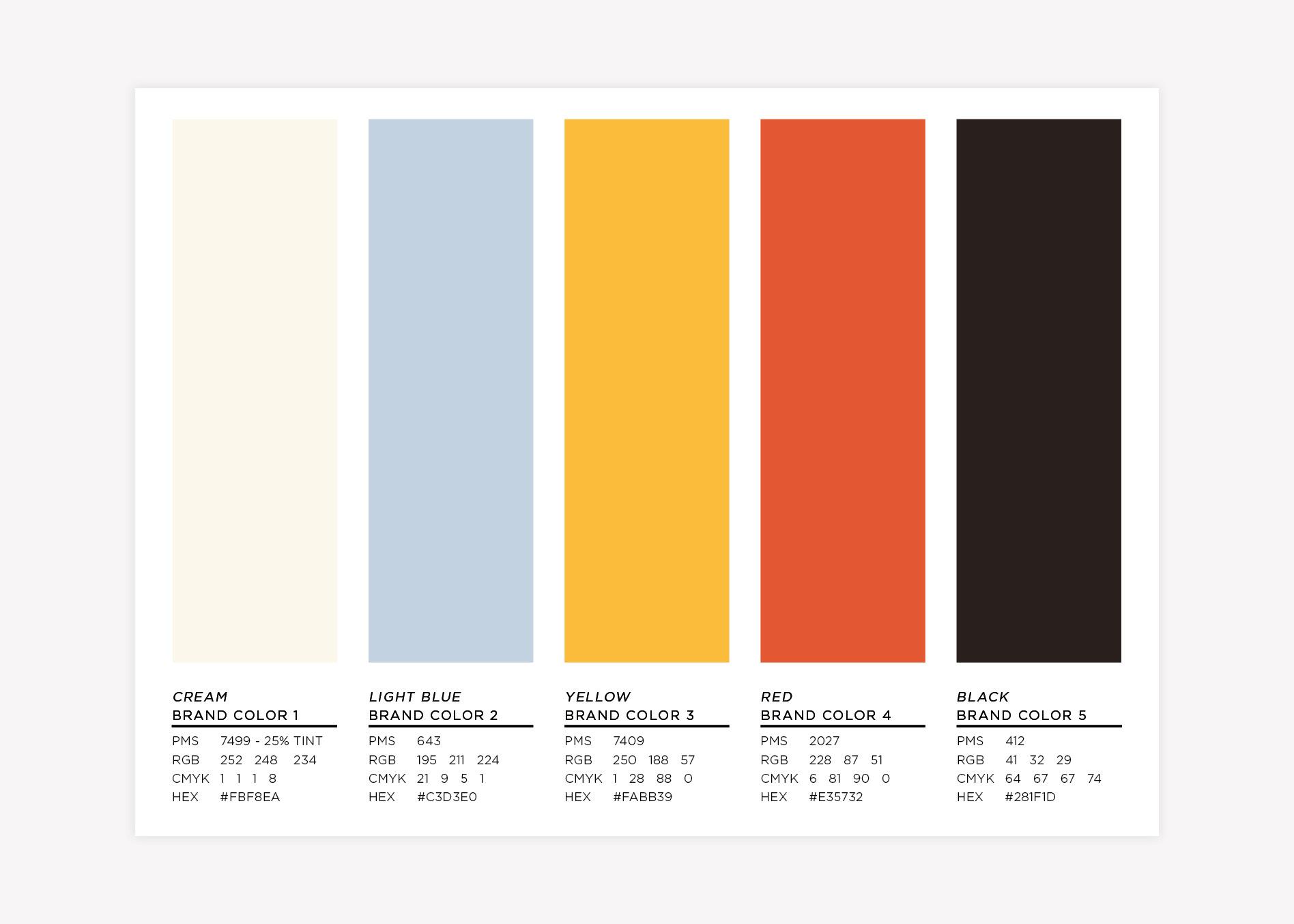 restaurant industry brand colors