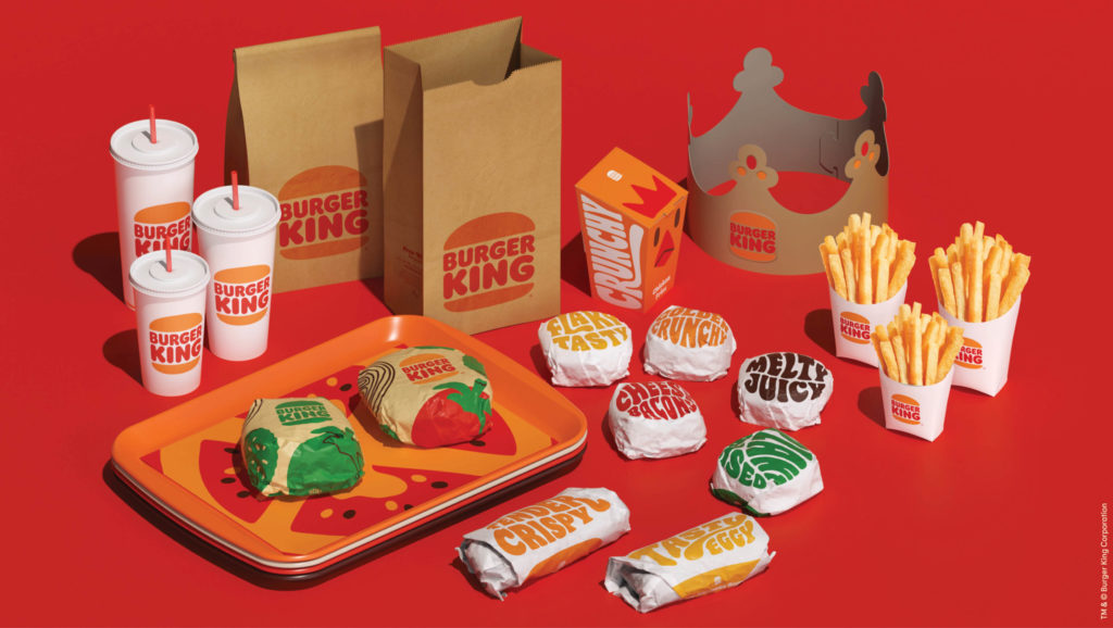 Burger King food packaging to-go