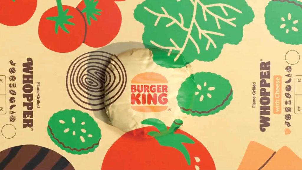 Burger King pattern illustration design
